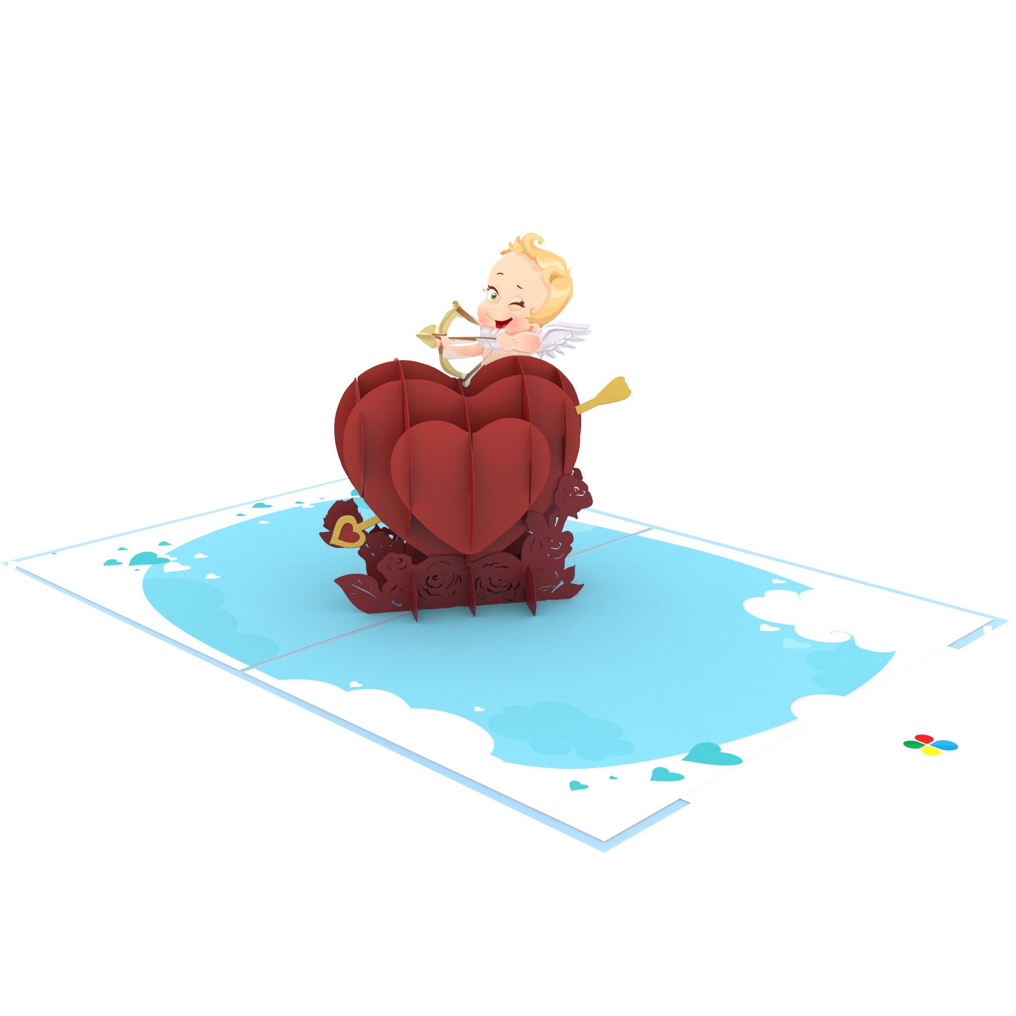 Thiệp 3D pop up Thần tình yêu Cupid
