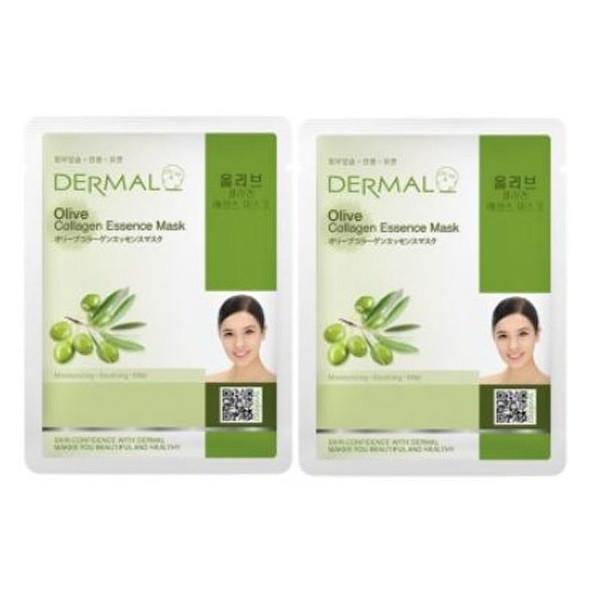 2 Mặt nạ Dermal dưỡng chất tinh dầu Olive + Collagen Dermal