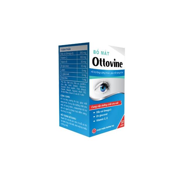 Thực phẩm bảo vệ sức khỏe  Bổ mắt Ottovine sáng mắt, giảm mờ mắt, mỏi mắt, khô mắt
