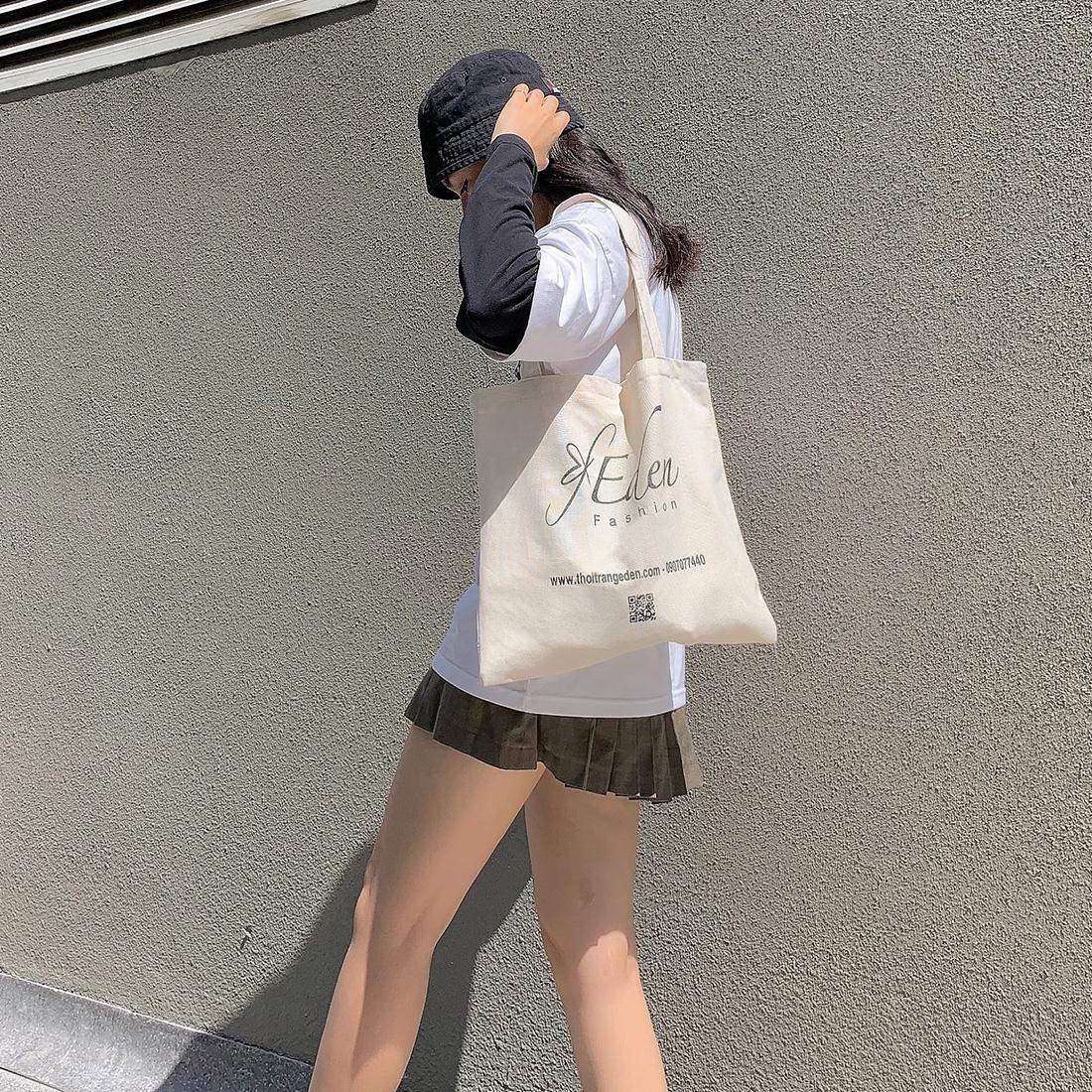 Túi tote canvas đa năng tiện lợi thời trang Eden chất liệu thân thiện môi trường - TCV001