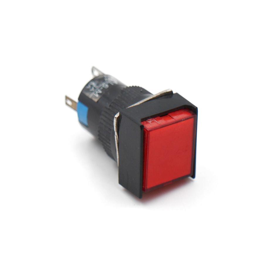 Nút Nhấn Đề Vuông 24VDC AL6 - A Nhấn Giữ Có Đèn
