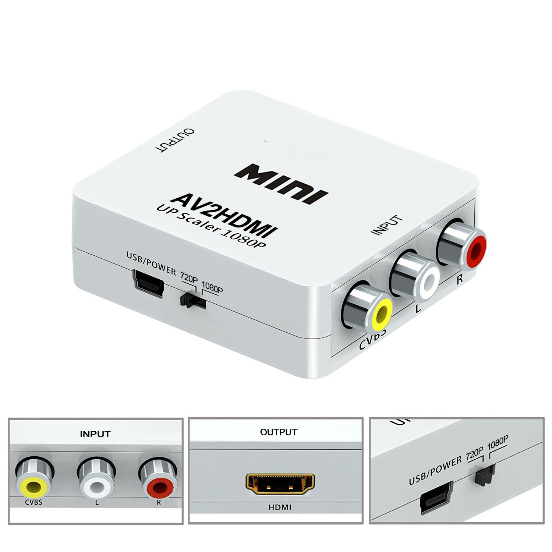 Hộp chuyển Mini AV ra HDMI, AV to HDMI, AV sang HDMI - FullHD 1080p/ 720