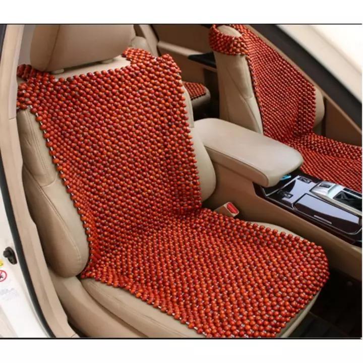 Đệm ghế ô tô hạt gỗ hương S-D12