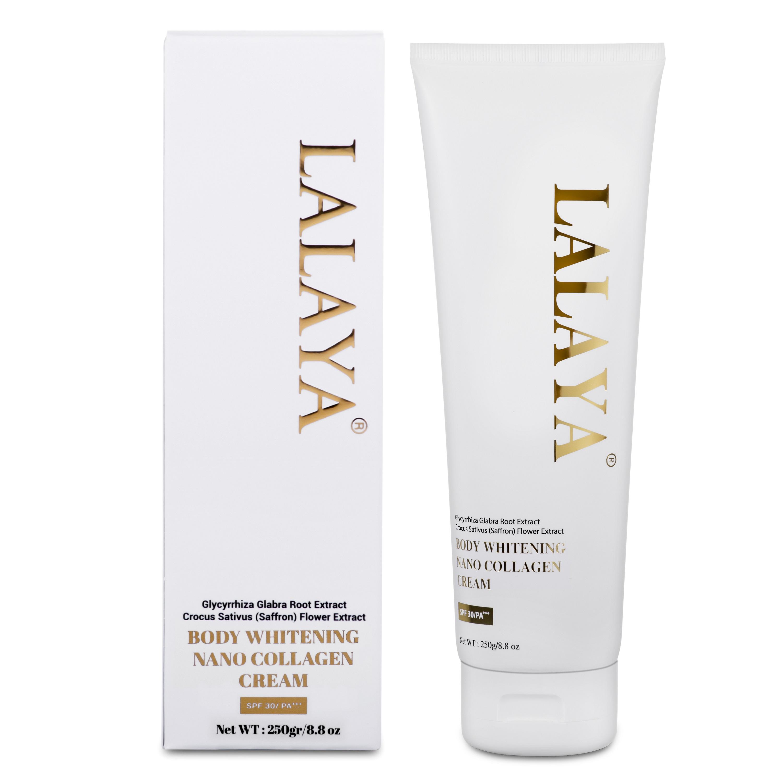 Kem dưỡng trắng da body ban ngày có chống nắng, tinh chất nano collagen LALAYA BODY WHITENING NANO COLLAGEN CREAM LLY04
