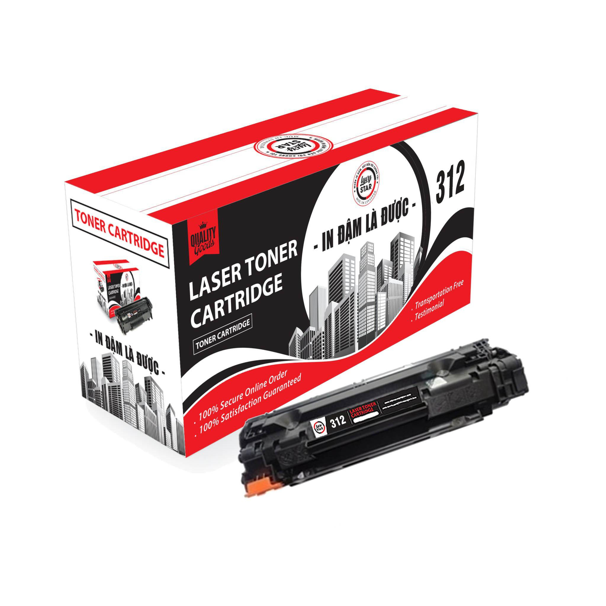 Mực in Lyvystar laser Cartridge 312 sử dụng cho máy in Canon - Hàng Chính Hãng