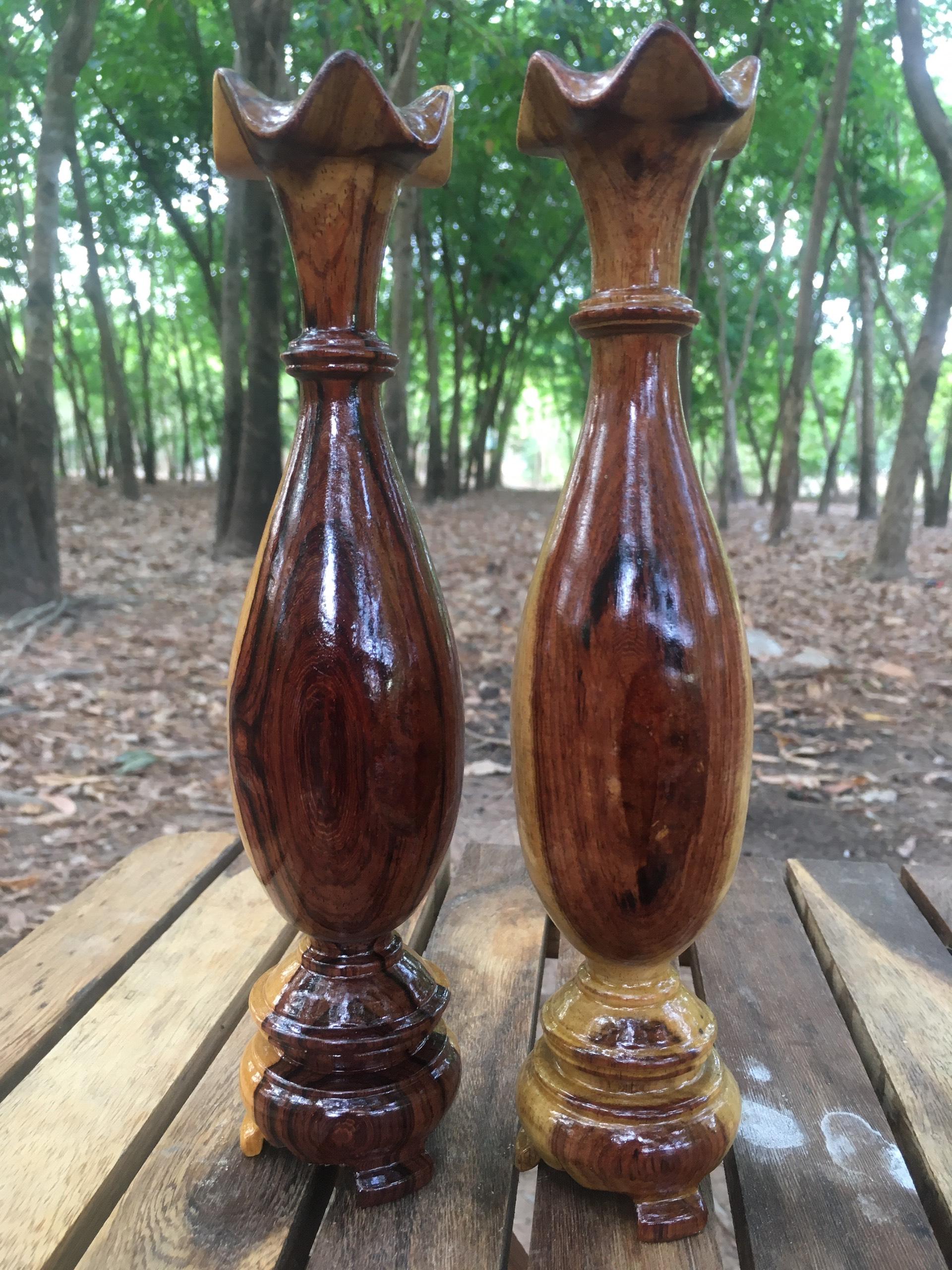 Cặp lục bình mini gỗ Trắc, nhiều kích cỡ
