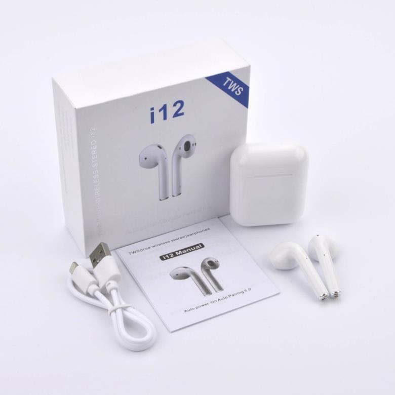 Tai Nghe Bluetooth i12 TWS 5.0 Kết Nối Không Dây