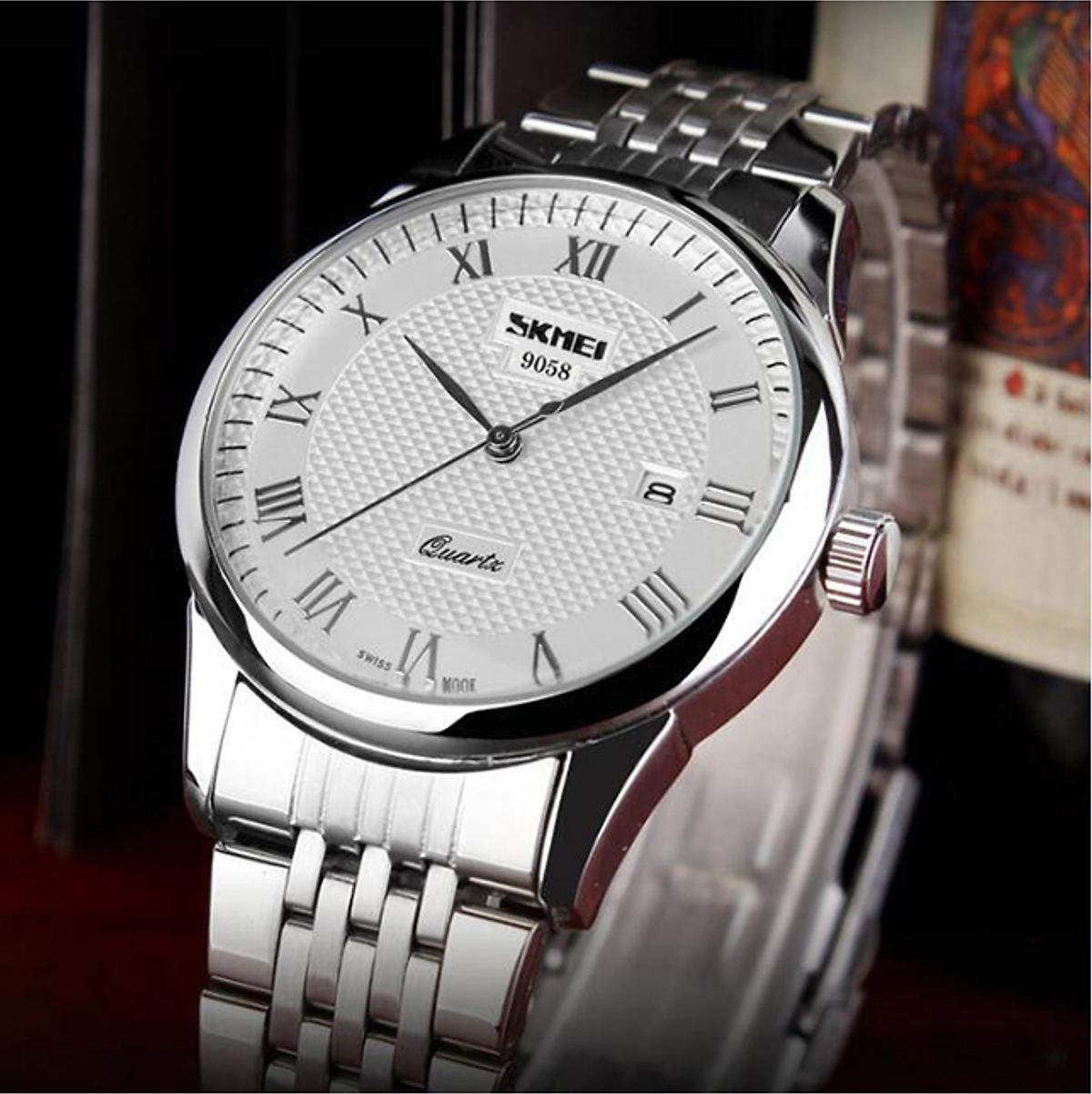 Đồng hồ nam dây inox Skmei 9058
