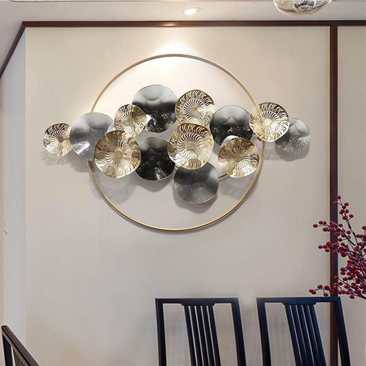 Phù điêu hình lá sen - Phù điêu trang trí treo tường ( 90x60cm)
