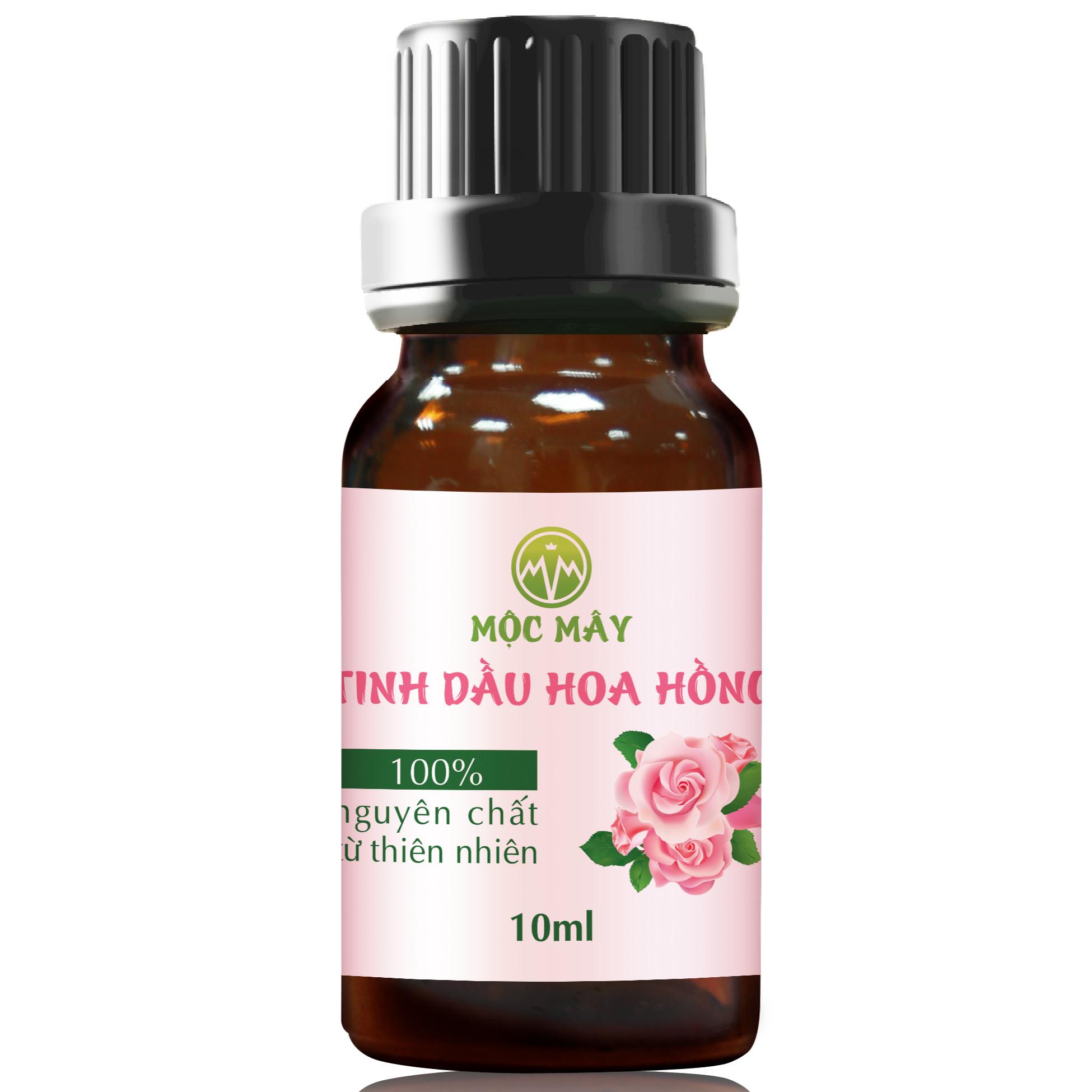 Tinh dầu hoa Hồng 10ml Mộc Mây - tinh dầu thiên nhiên nguyên chất 100% - chất lượng và mùi hương vượt trội