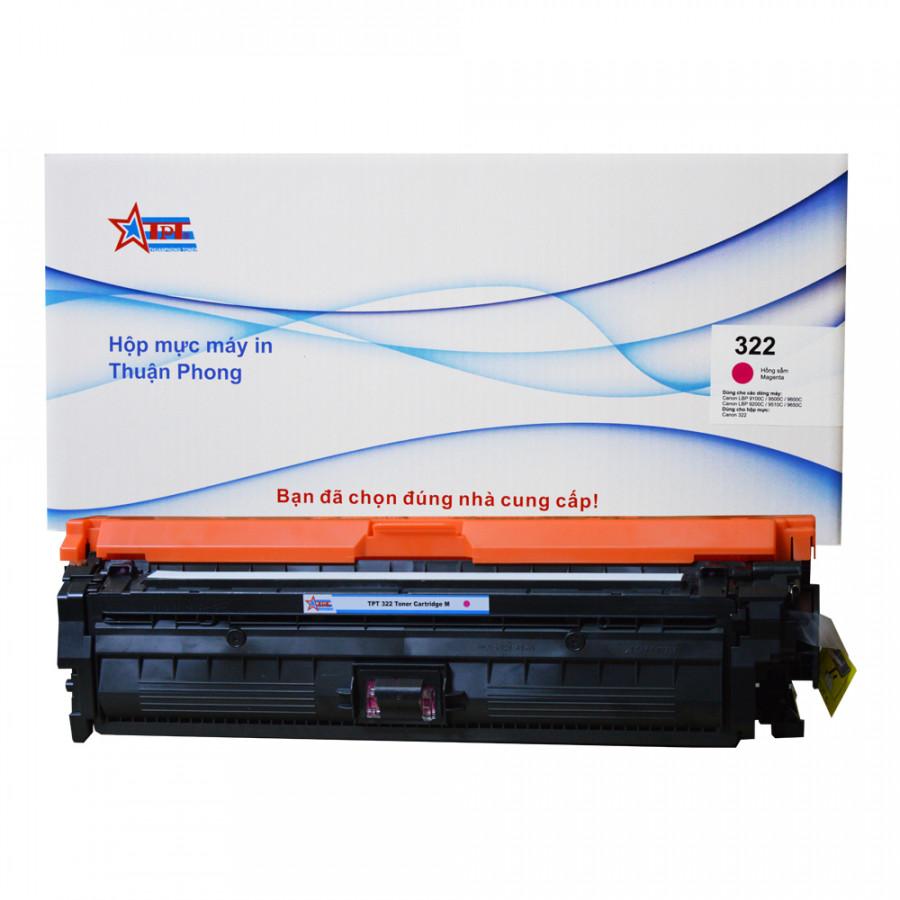 Hộp mực Thuận Phong 322 dùng cho máy in màu Canon LBP 9100C  9200C  9500C  9650C - Hồng Sẫm - Hàng Chính Hãng