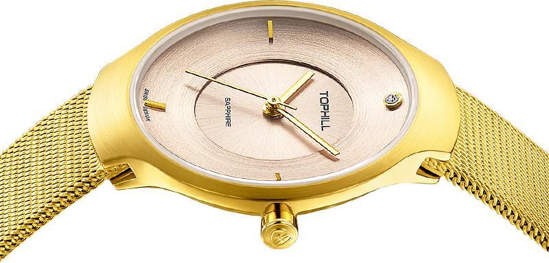 Đồng hồ nữ dây lưới chính hãng Thụy Sĩ TOPHILL TS002L.S2982