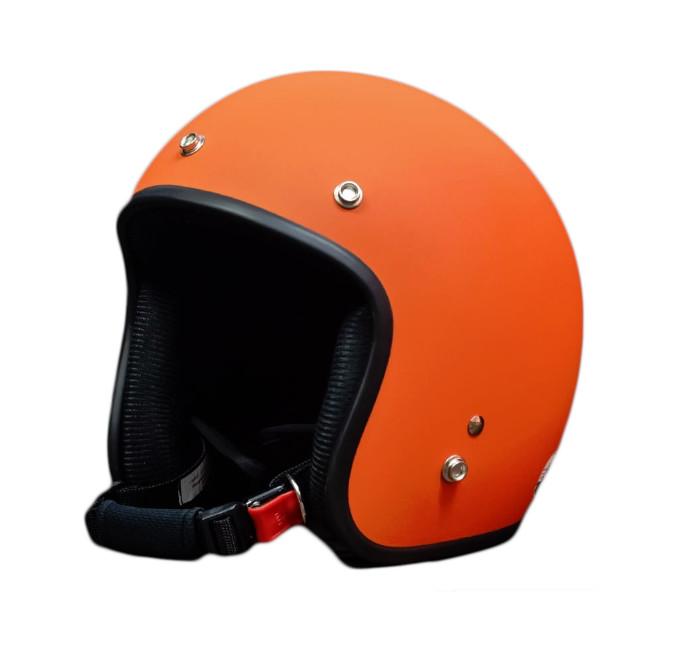 Bộ 1 nón bảo hiểm 3/4 đầu (Cam) + 1 mũ ninja + 1 đôi bao tay chống nắng + 1 kính phượt + Tặng 1 khăn phượt đa năng
