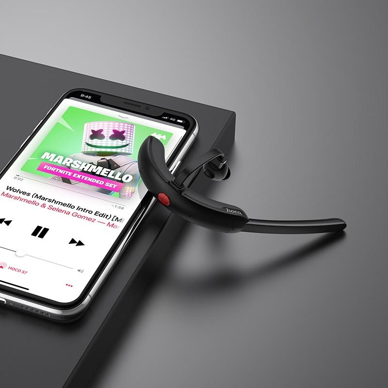 Tai nghe bluetooth nhét tai Hoco S7 Delight V5.0 (Đen) - Hàng Chính Hãng