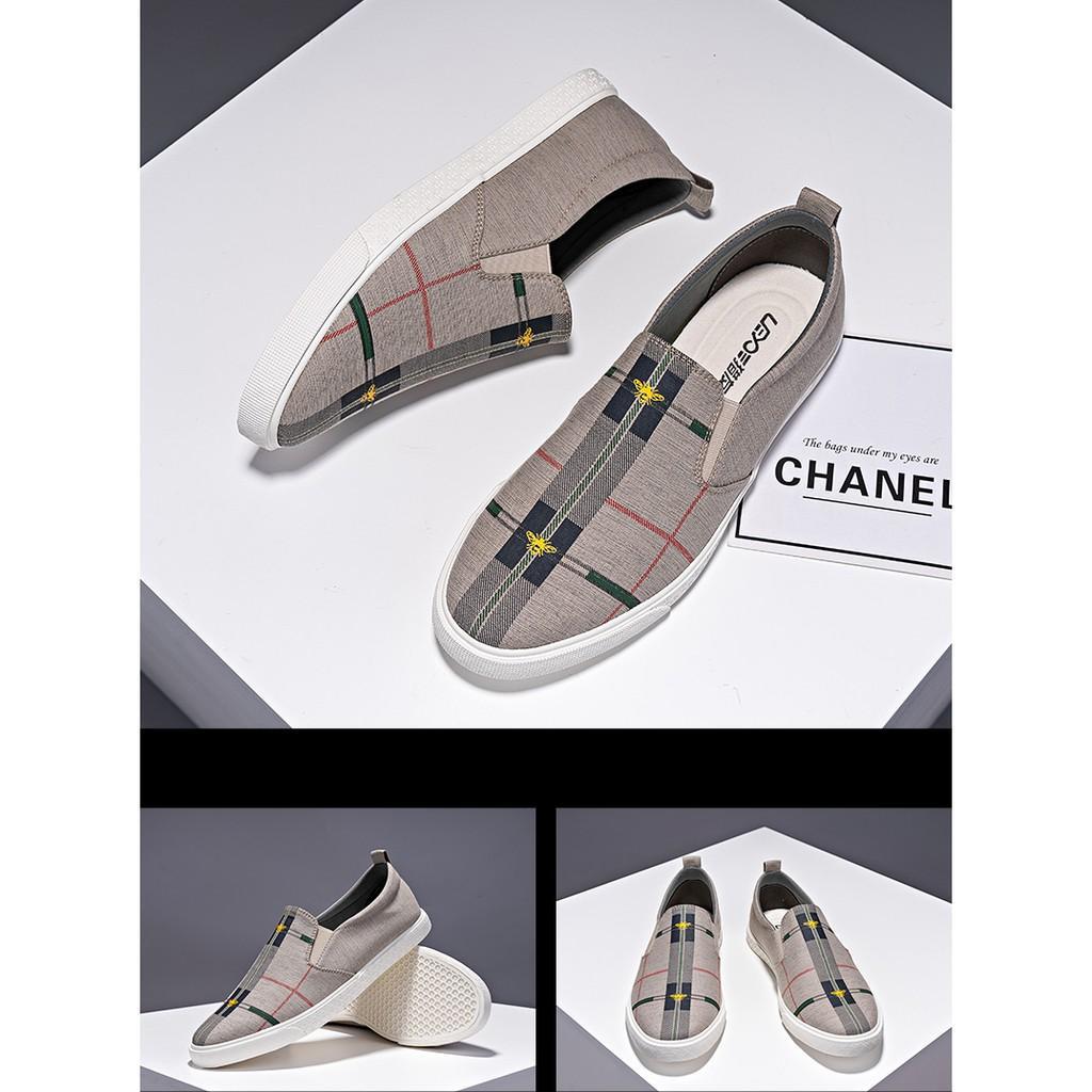 Giày lười nam - Slip on nam vải - Mã LY107
