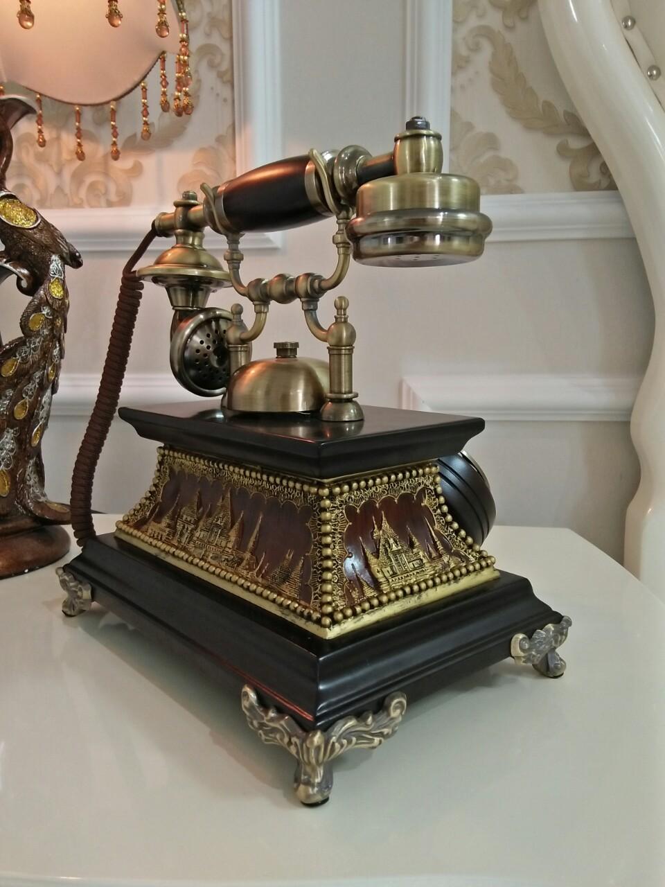 ĐIỆN THOẠI TÂN CỔ ĐIỂN DT14 bàn phím quay chuông quả, dùng cáp điện thoại cố định nghe gọi âm thanh rõ ràng (điện thoại bàn tân cổ điển)