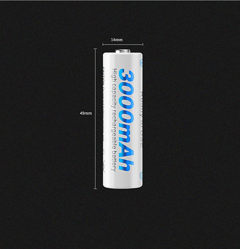 (tặng hộp đựng) Bộ 4 Pin sạc AA  1.2V Ni-MH 3000mAh lắp mic không dây,máy đo huyết áp,đồ chơi trẻ em...