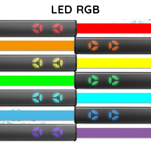 Loa Thanh Soundbar Bluetooth Gaming 28E-BS Để Bàn Có Đèn Led RGB Dùng Cho Máy Vi Tính PC, Laptop, Tivi Loa Công Suất Lớn - Tặng Tai Nghe Chụp Tai CT770 ( Giao màu ngẫu nhiên )