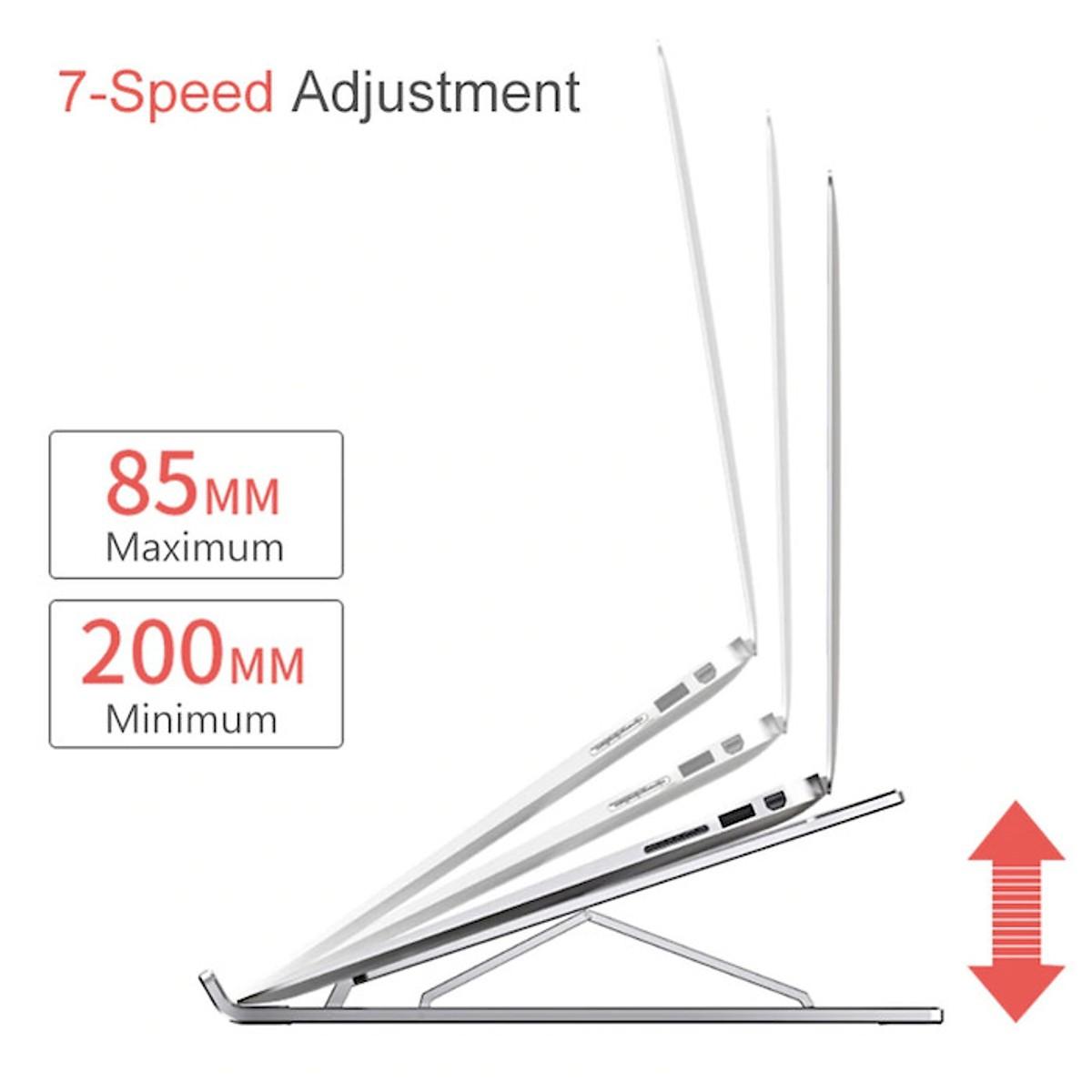 Đế nhôm cao cấp hỗ trợ tản nhiệt cho Laptop, Macbook gồm 7 mức điều chỉnh độ nghiêng tùy ý (có thể gập gọn thông minh)