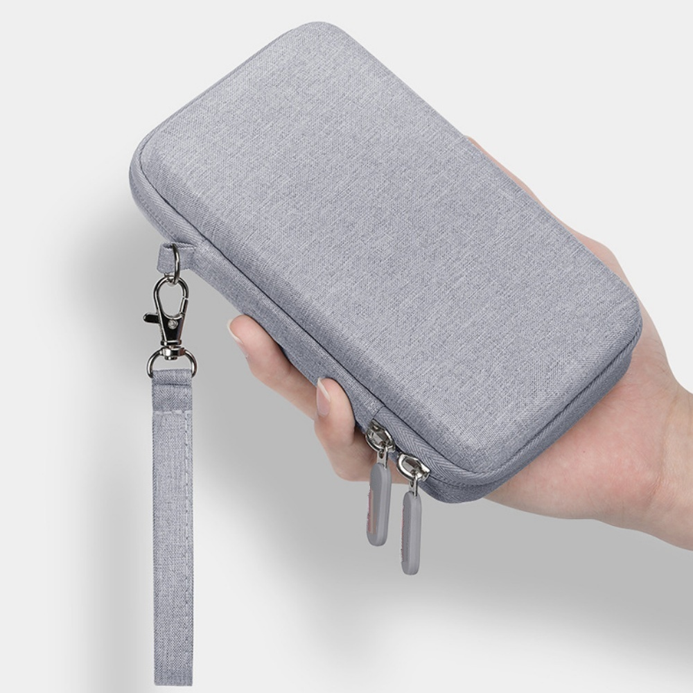 Túi phụ kiện điện thoại, túi công nghệ khung cứng chống sốc chuyên dụng đựng ổ cứng, pin sạc dự phòng, bộ sạc tai nghe có quai xách