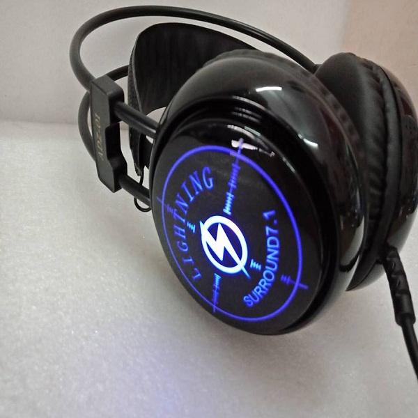 Tai nghe Lightning ADZ-01 âm 7.1 cổng USB - Lightning ADZ01 ( Đen) - Hàng Chính Hãng