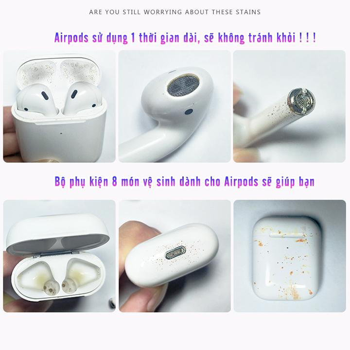 Bộ 8 món vệ sinh tai nghe cho Airpods