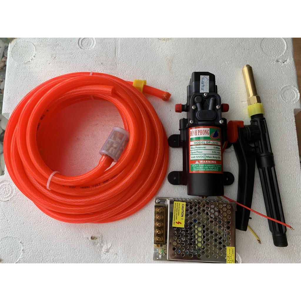 Bộ RỬA XE, xịt rửa mini 12V siêu khỏe 5l/p