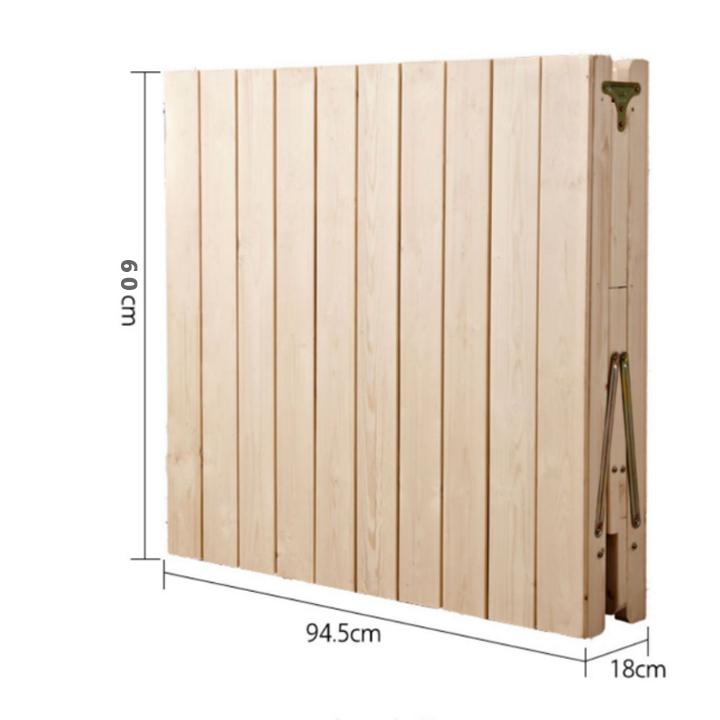 Giường ngủ gỗ thông xếp gọn
