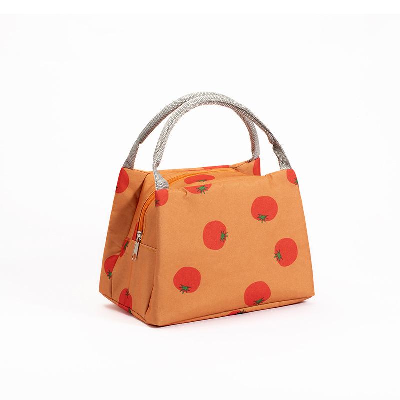 Túi đựng cơm giữ nhiệt Fruit khóa kéo cao cấp 23x15x15cm