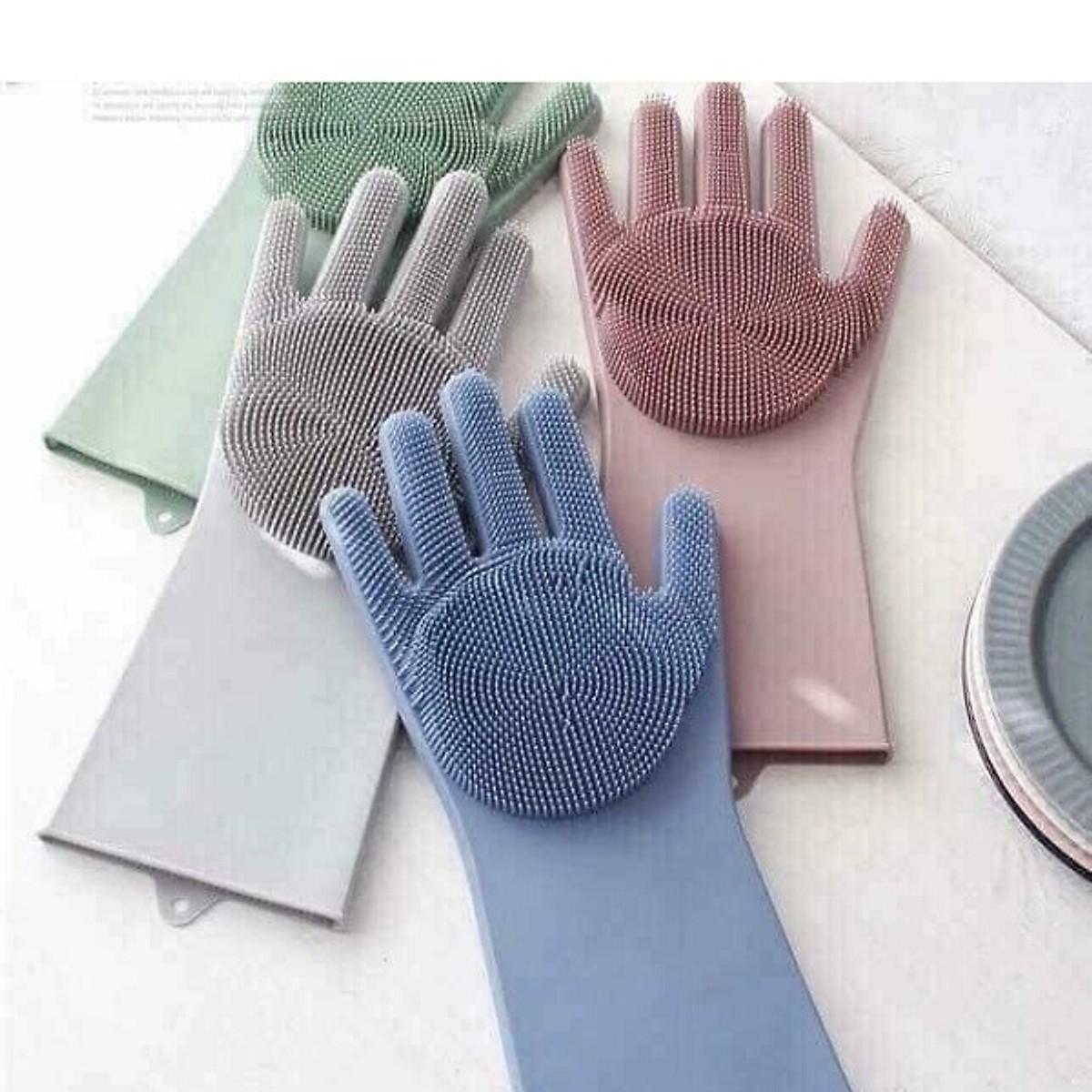 Bao tay hỗ trợ rửa chén vệ sinh đa năng BT3699 - Màu ngẫu nhiên