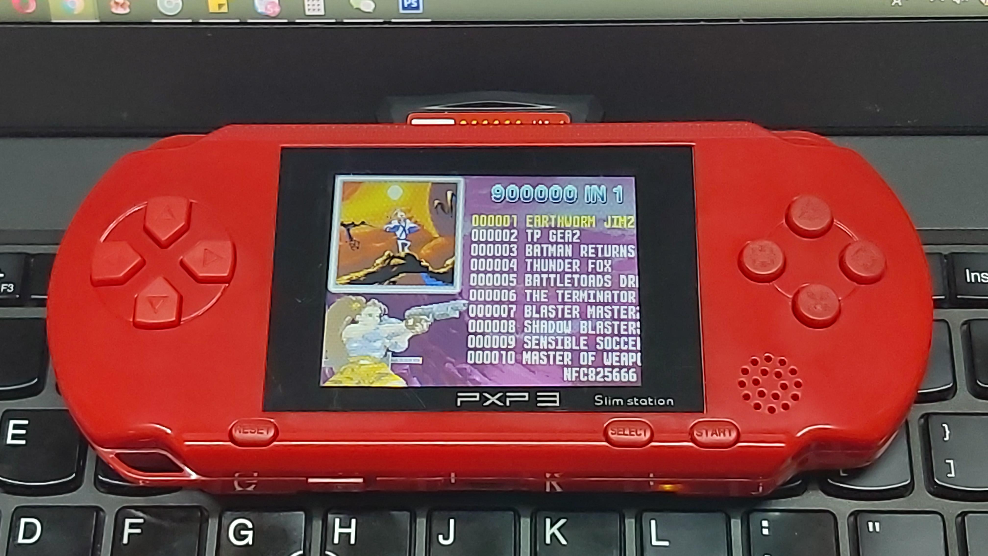 Máy chơi game cầm tay PSP 3 - kèm 2 băng game - hỗ trợ AV