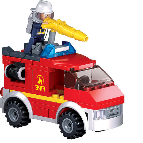 Đồ chơi lắp ráp xe cứu hỏa và trạm xăng TINITOY (136 pcs) YY652974