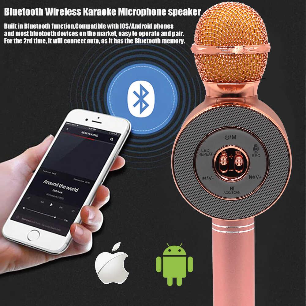Micro hát karaoke WS668 kiêm loa bluetooth (ngẫu nhiên )
