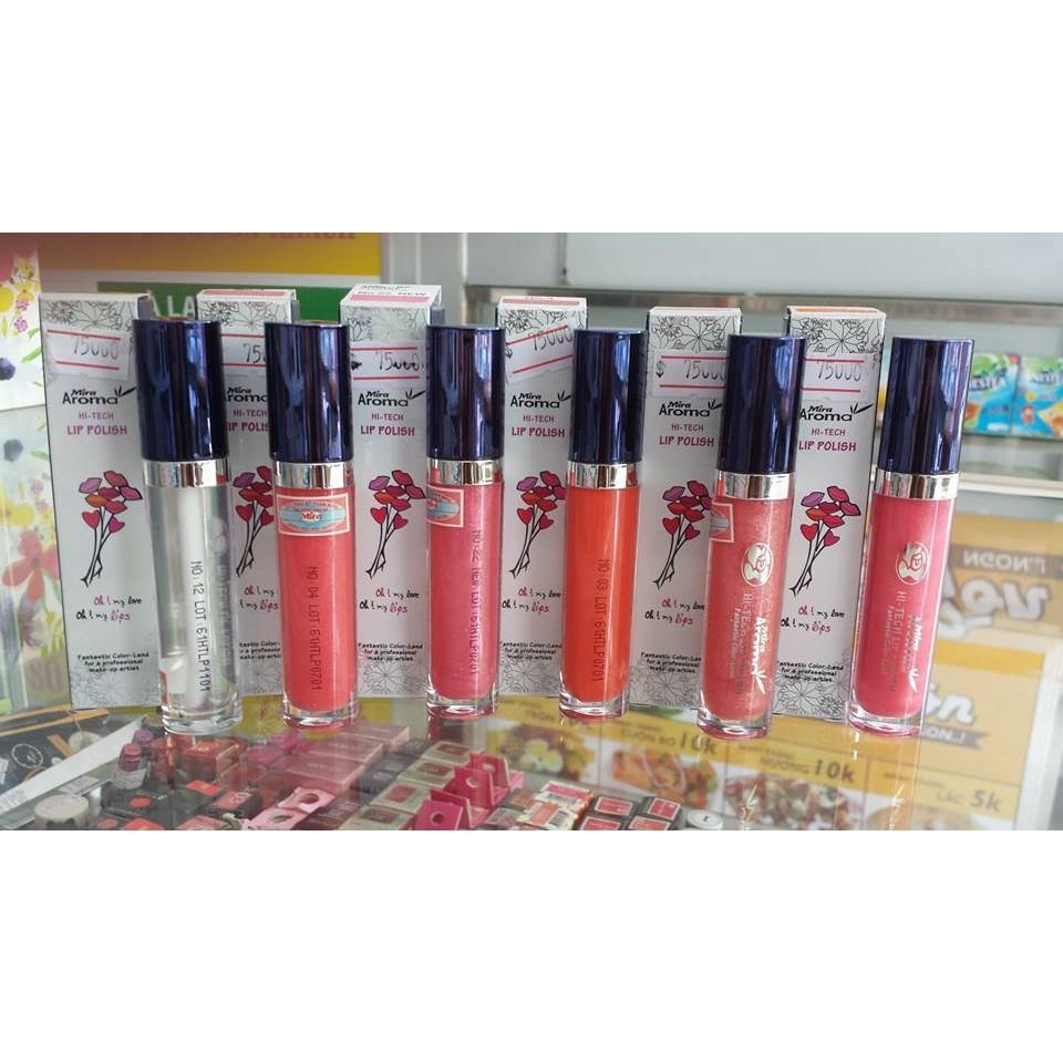 Son bóng dưỡng môi Mira Aroma Hi-Tech Lip Polish Hàn Quốc (6g) No.30 tặng kèm móc khoá