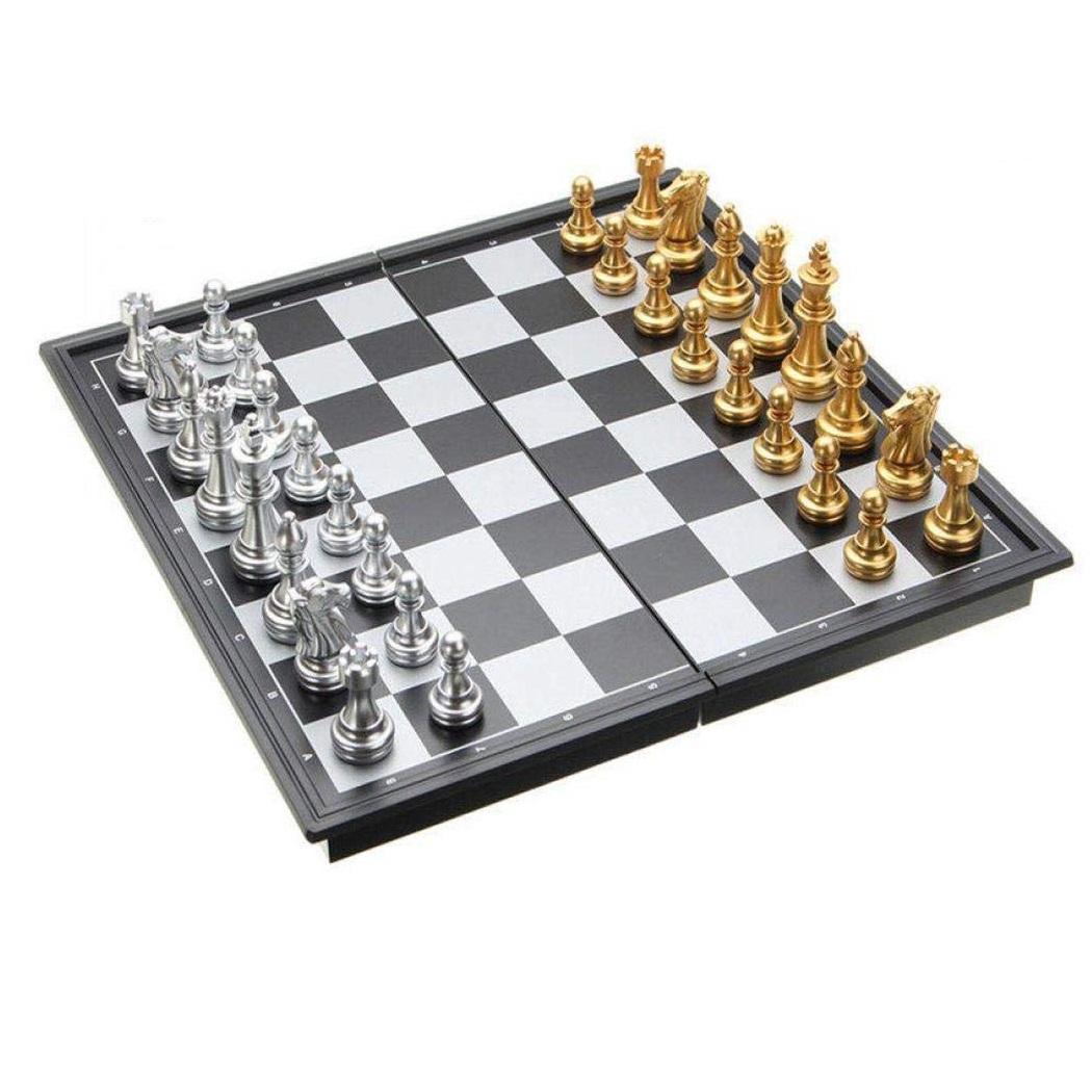 Bộ cờ vua nam châm (Quân cờ màu vàng và bạc)
