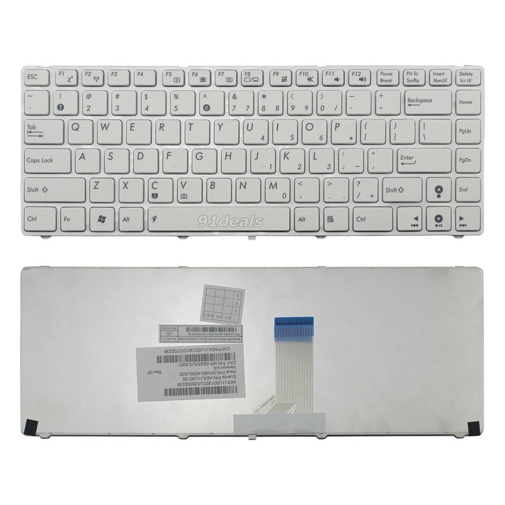 Bàn phím dành cho Laptop Asus K43 K43S, K43SJ, K43SD, K43SV - Màu trắng