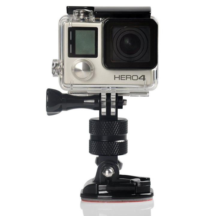 Ngàm kim loại nhôm gắn mount GoPro Hero  xoay 360 độ