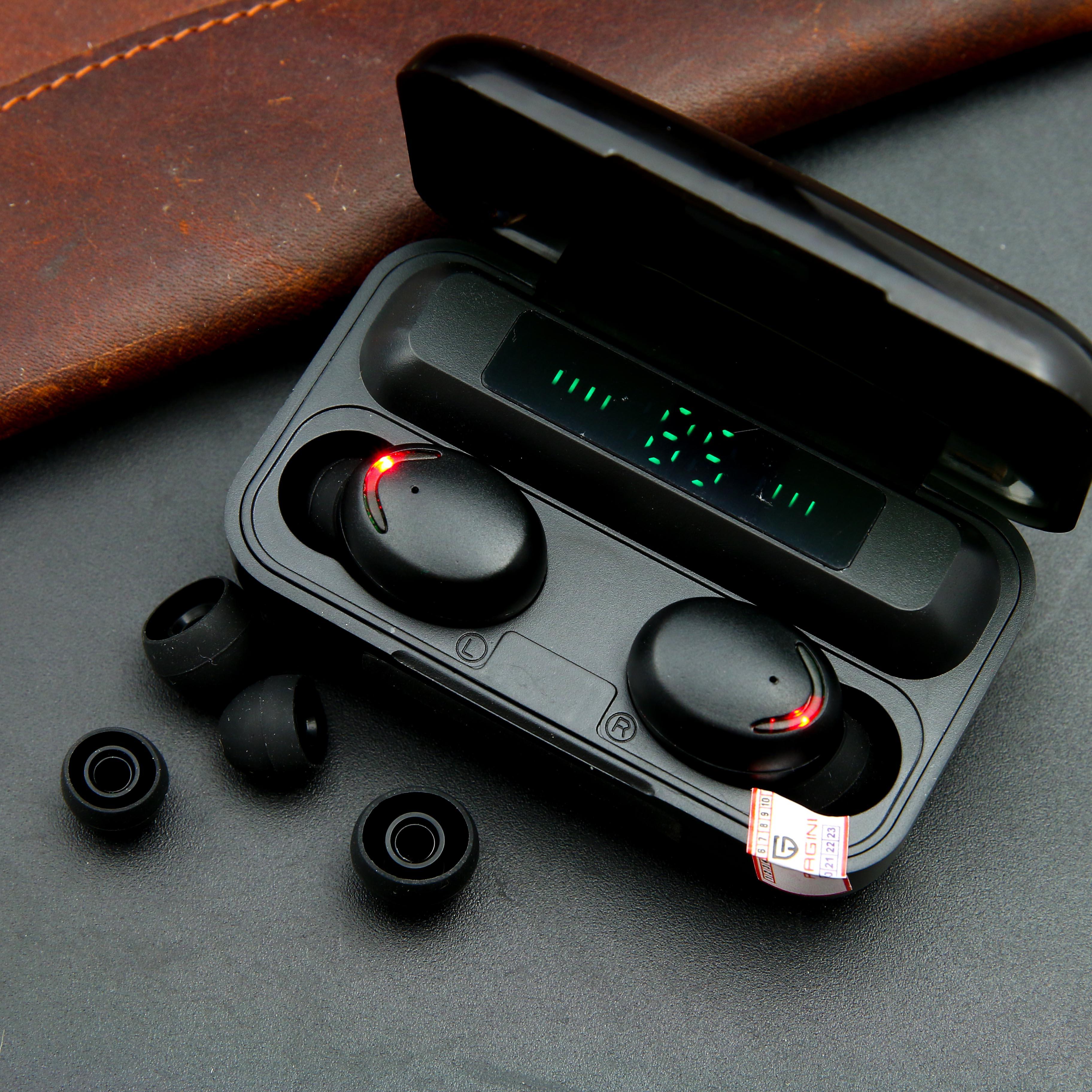 Tai nghe bluetooth PAGINI F9 Pro phiên bản mới nhất năm 2021 – Thiết kế không dây tiện lợi – Hiển thị mức pin - An toàn, dễ sử dụng khi đi xe, đi tập thể dục -  Hàng nhập khẩu