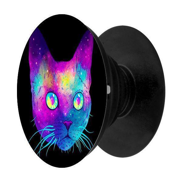 Popsocket in dành cho điện thoại mẫu Mèo 7 Màu - Hàng chính hãng