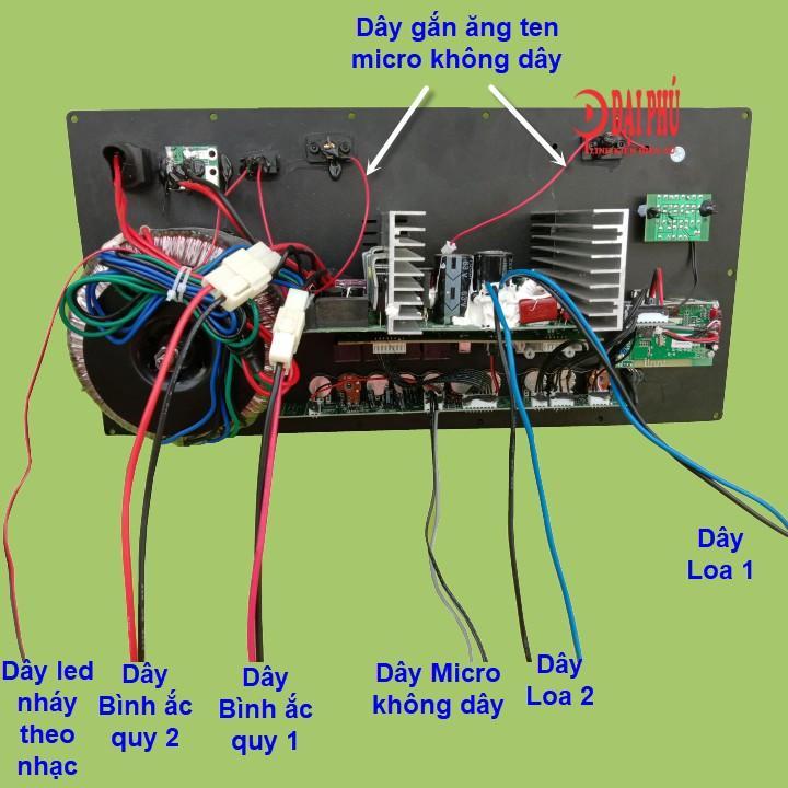 Mạch loa kéo Reverb 2 kênh kèm micro, mạch loa kéo kèm micro