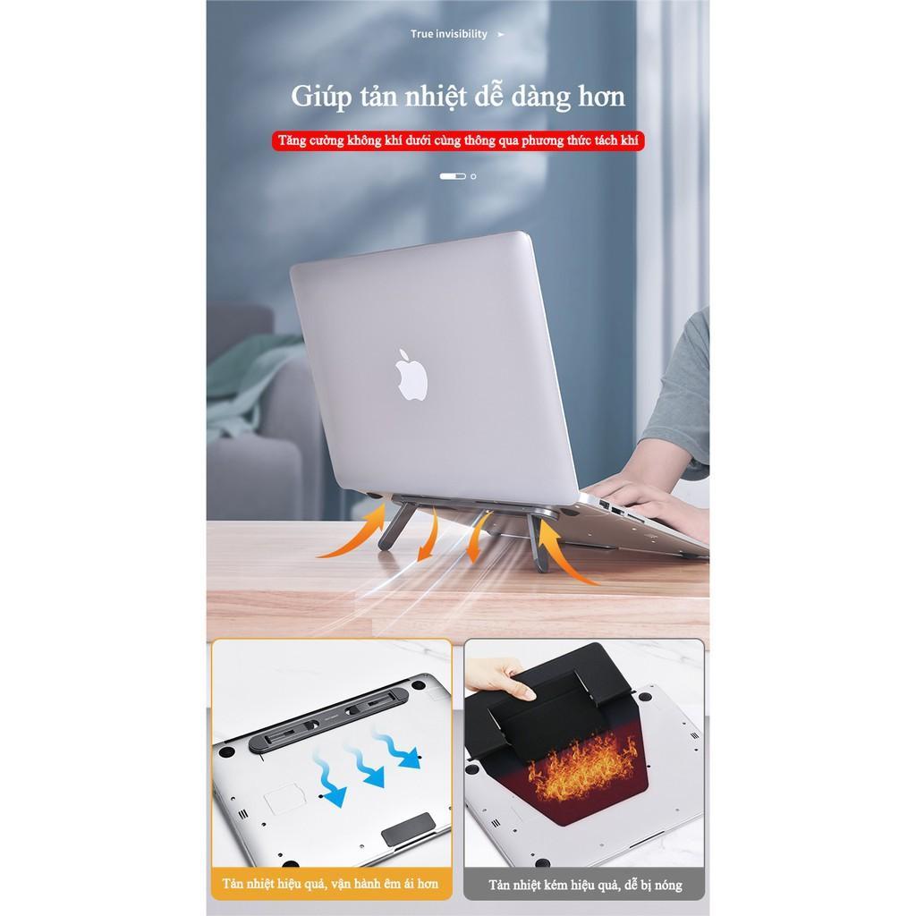 Đế Nhôm  CNC Cho Laptop Macbook Mỏng Nhẹ Kê Cao Tản Nhiệt