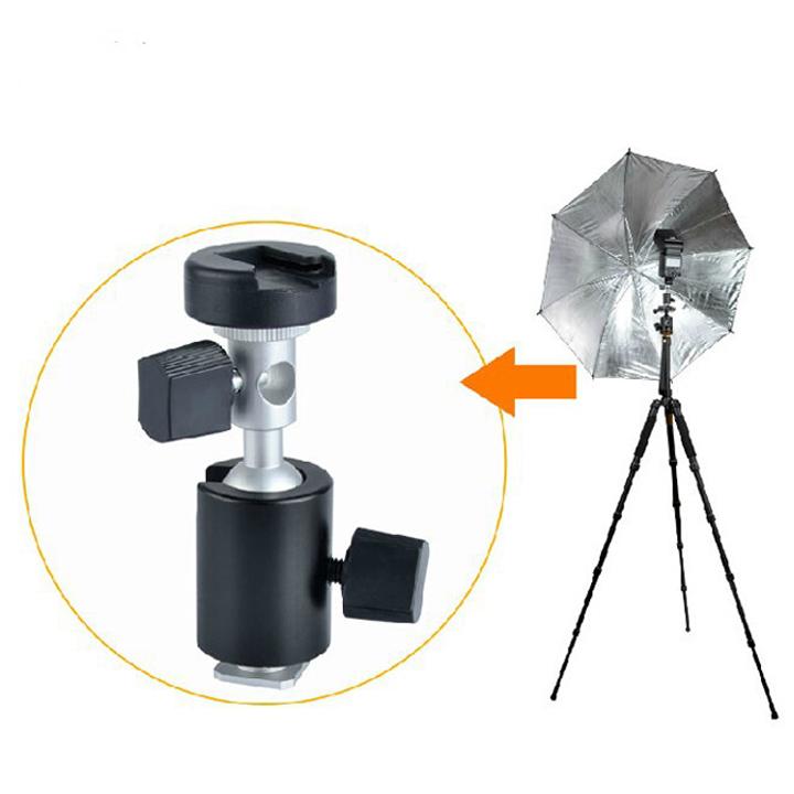 Gá gắn dù đèn Flash có ball head điều chỉnh 360 độ