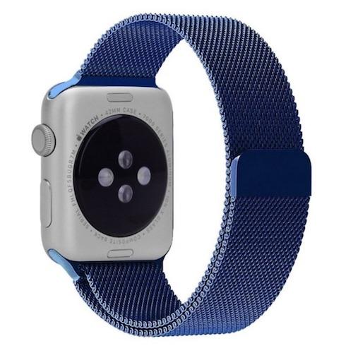Dây đeo cho Apple Watch Milanese Loop màu xanh navy  đủ size