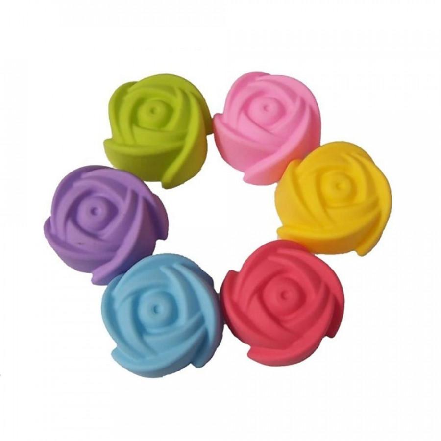 Bộ 6 khuôn làm bánh hoa hồng 5cm