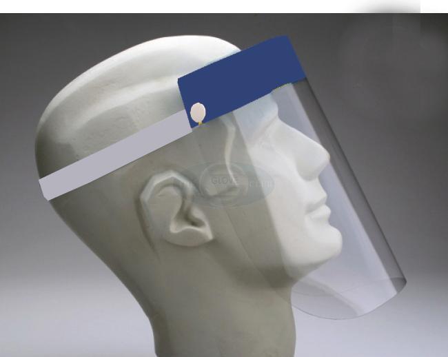 Tấm kính che mặt - mặt nạ bằng kính bảo hộ màu xanh dương