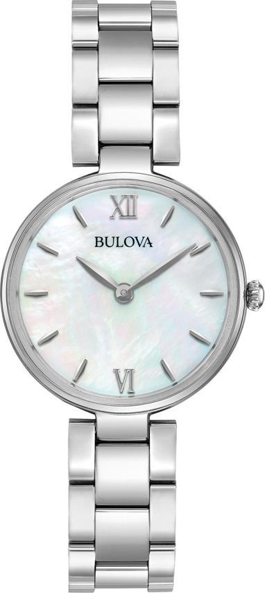 Đồng Hồ Nữ Bulova Dây Thép Không Gỉ 96L229 - Mặt Xà Cừ