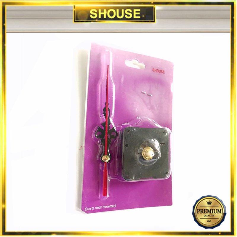Bộ Máy Đồng Hồ Treo Tường Kim Trôi Quartz Shouse 5168-S có đủ bộ kim không gây tiếng động dùng để thay thế