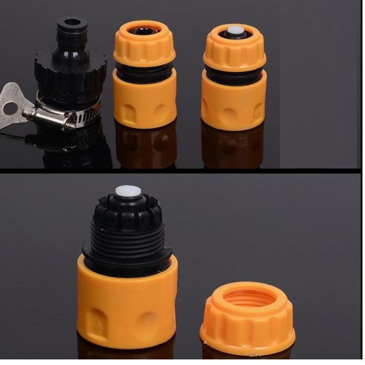 Bộ dây vòi xịt nước rửa xe, tưới cây . tăng áp 3 lần, loại 15m 206236 đầu đồng, cút,nối đen