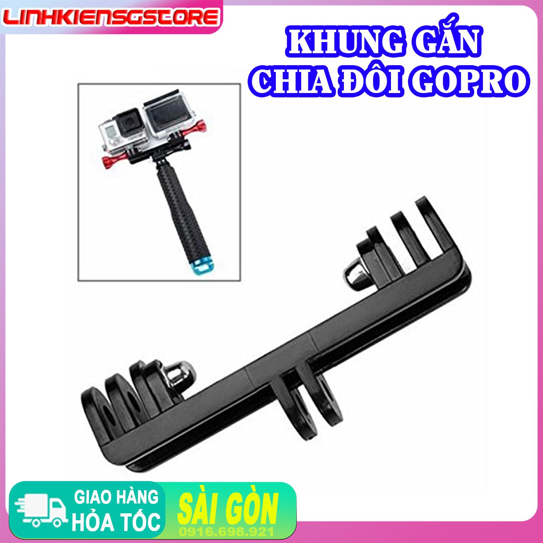 Khung Gắn Chia Đôi Gopro Camera nhiều máy