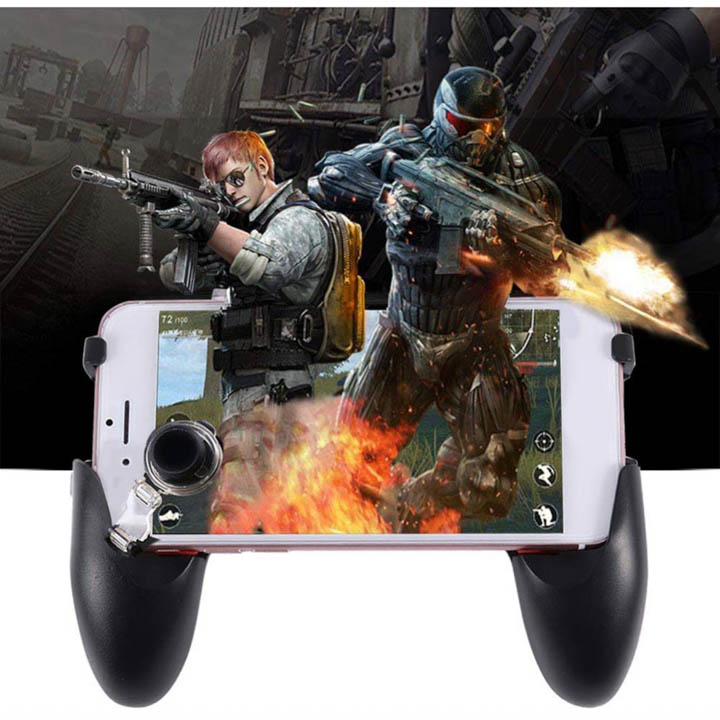 Combo tay cầm 5 trong 1 chơi game mobile Free Fire PUBG ROS làm mát máy